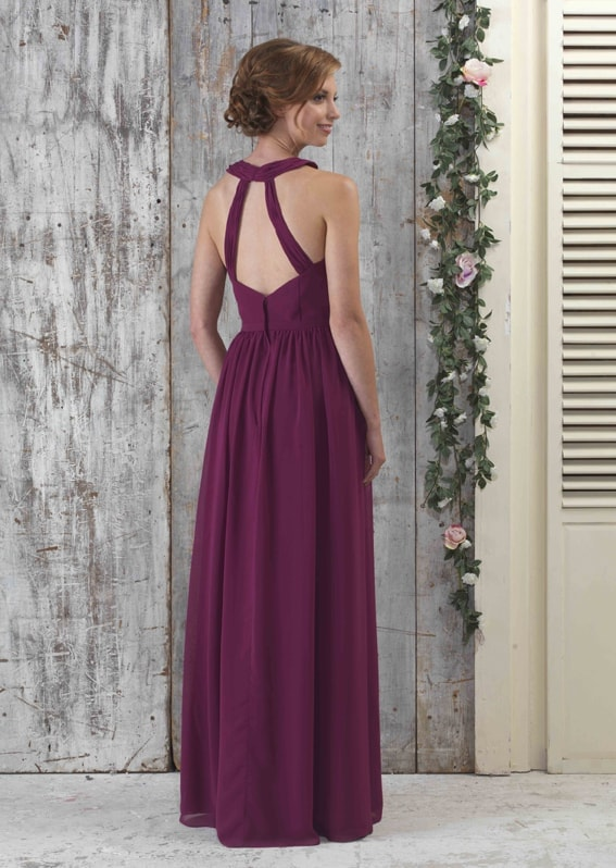 EN335-Chiffon-bridesmaids-Halter-neck-full-length-gown-with-pleated-front-back-shot_72px